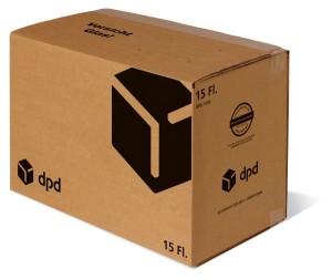 15er Versandsystem DPD STEHBOX KOMPAKT inkl. 6er Einlage